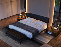 Luxury Bedroom Design. In Architectural Renderings.