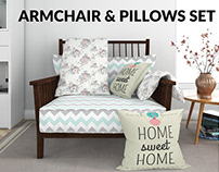 Armchair & Pillows Set