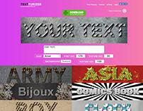 Textturizer Online Text Effects Generator