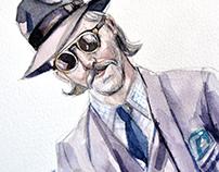 Fashion images in a man's portrait