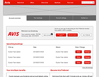 Avis Preferred Membership Card Account UX Design