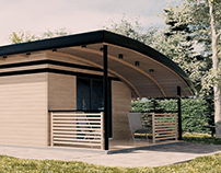 3D visualization of the modular house