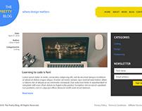Re-Design Blog Landing Page