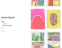 Web Design: artist portfolio site