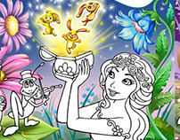 """""""Fairies"""", coloring book For Publishing House """"Ranok"""""""