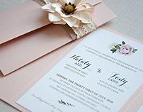 Wedding Invitation - Vintage/Tuscan