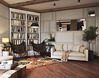 Living Room 3D Render for Fresno Project