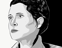 General Leia Organa- Mobile vector portrait