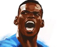 France Football National Teams in Digital Drawing