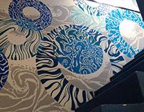 Mural en la Escalera Azul