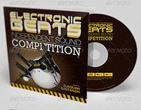 Electronic Beats CD Artwork Template