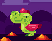 Flat Design Dragon for Games