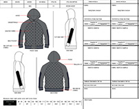 Tech pack sample of Jacket