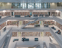 City Library. Stuttgart, Germany.