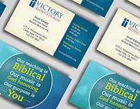 Business card for Victory Baptist Church