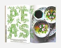 Bon Appétit Magazine, Wild Peas Lettering