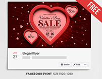 Valentine's Day Sale – Free Facebook Cover Template in