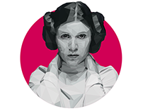 Princess Leia | Low Poly
