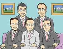 Family Guy Style cartoon for Arca
