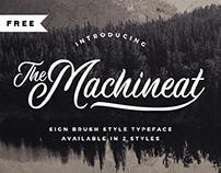 FREE   Machineat Script Font
