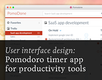 Pomodoro timer application for productivity tools