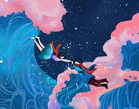 """Katawaredokki"" Watercolour Digital Illustration"