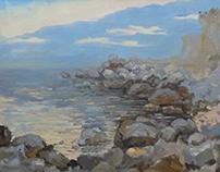 """""""The Silence"""" oils canvas 40x50"""