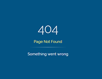 404 Error Page Template | Web Design