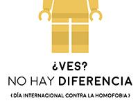 Cartel del Día internacional contra la Homofobia