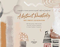 Abstract Painterly Art Generator: Photoshop .abr & more