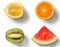 Sliced Fruit Study