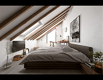 Scandinavian Loft Bedroom