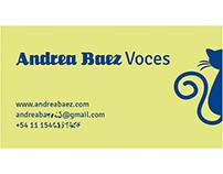 Tarjetas personales Andrea Báez (Voces)