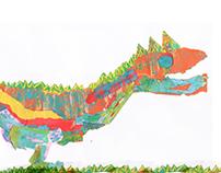 Dino, (experimentación de materiales).
