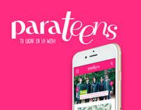 ParaTeens App Design UX/UI