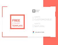 Free e-shop template