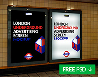 Free London Underground Ad Screen Mock-Up 3