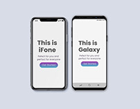 Animated iPhone X & Galaxy S9 Mock-Ups