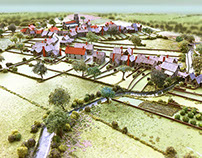 Model of Halesworth in 1530ad