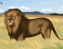 African Lion ( my 1st digital painting)