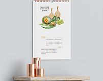 Thiết kế lịch theo phong cách đồ ăn