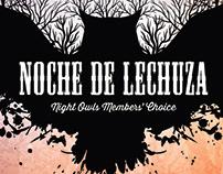 Noche de Lechuza promotional postcard