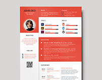 Free Colorful Resume Template with Cover Letter