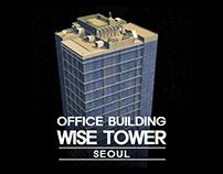 Wise tower Seoul - Cities skyline Art
