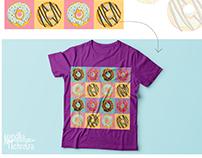 Organically illustrated print design
