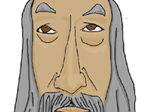 John Hurt inspired caricature