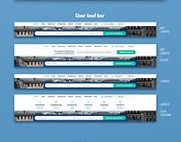 User tool bar