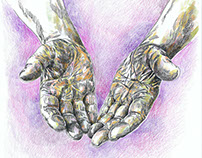 """Ilustração Livro """"O poder das mãos vazias"""""""