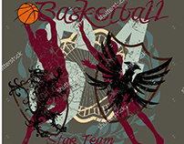 Basketball team graphic design vector art EPS+JPEG