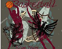 Basketball team graphic design vector art EPS+JPEG